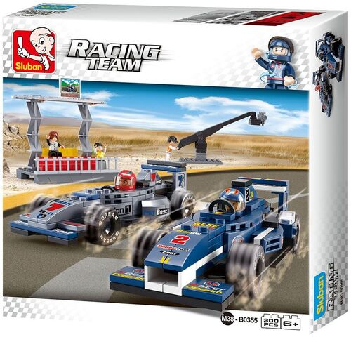 Sluban juego bloques de construccion M38-B0355 - Racing Team Race Cars With Stand (st32)