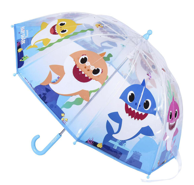 Paraguas manual 45cm transparente de Baby Shark