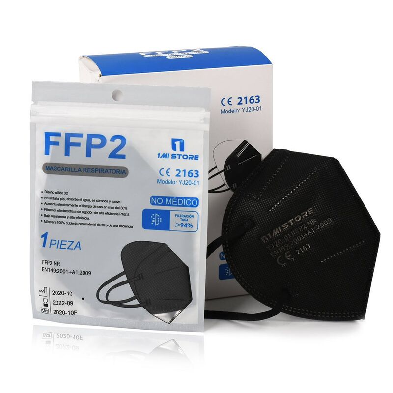 Mascarilla FFP2 color negro