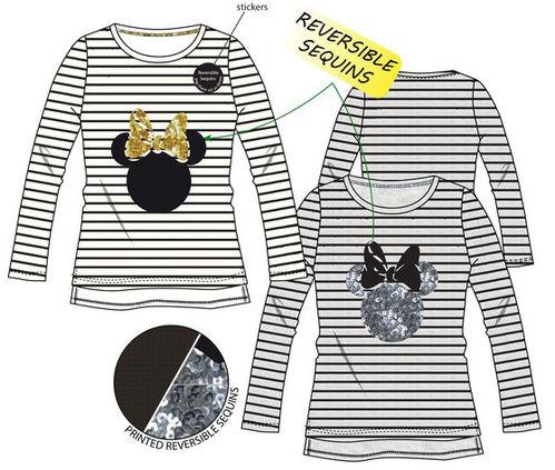 16fdc7300 Camiseta manga larga con lentejuelas reversibles de Minnie Mouse ...